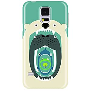 Wildpunch WP-SGE5(42) Cute Designer Phone Back Cover Case For Galaxy E5 (Pale Green)