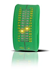 Montre Time IT Zero vert avec leds pour afficher l'heure