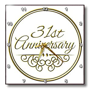 Wedding Gift 31 Years : ... Gift Gold Text for Celebrating Wedding Anniversaries 31 Years Married