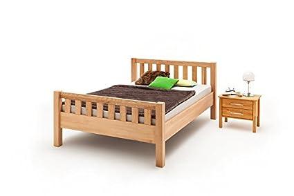 Estructura de cama Ben Comfort con elevado reposapiés en haya engrasada, aprox. 180x 200cm