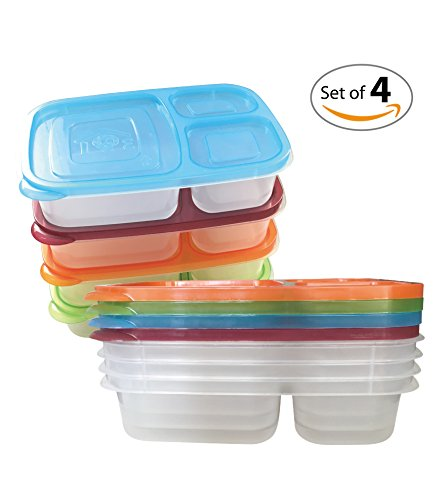 save 52 ewei 39 s homewares set of 4 bento lunch box with lids. Black Bedroom Furniture Sets. Home Design Ideas