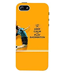 PrintVisa Sports Badminton Quotes 3D Hard Polycarbonate Designer Back Case Cover for Apple iPhone 5 :: 5S