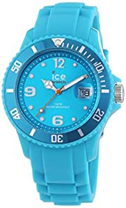 ICE-Watch - Montre Mixte - Quartz Analogique - Ice-Forever - Turquoise - Small - Cadran Turquoise - Bracelet Silicone Turquoise - SI.TE.S.S.13
