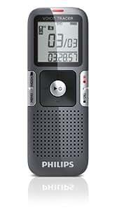 Philips LFH0635 Dictaphone numérique  2Go 22 jours d'enregistrement format mp3 (enregistre jusqu'à 2m) Titane / Argent