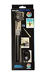 Pluto Plus Monopod Extendable Selfie Handheld Stick With Adjustable Phone Holder And Bluetooth Wireless Remote Shutter For Apple iPhone, Android