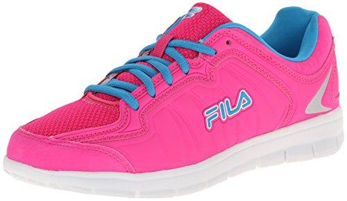 Fila Women's Escalight Running Shoe, Pink Glo/White/Aruba Blue, 9.5 M US