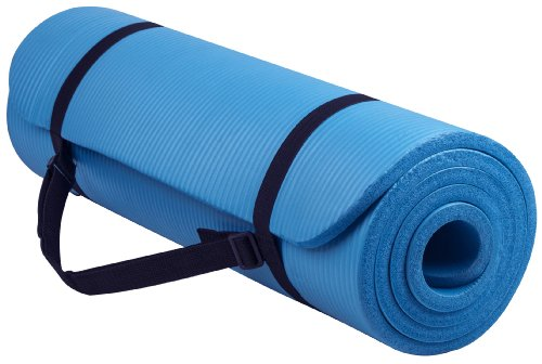 BalanceFrom-GoYoga-All-Purpose-12-Inch-Extra-Thick-High-Density-Anti-Tear-Exercise-Yoga-Mat-with-Carrying-Strap