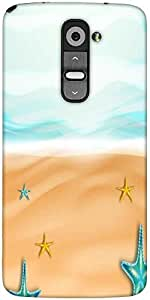 Snoogg Abstract Summer Background Designer Protective Back Case Cover For LG G2