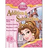 Disney Princess Addition & Subtraction Workbook & Flash Cards Set