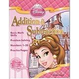 Disney Princess Addition & Subtraction Workbook & Flash Cards Set