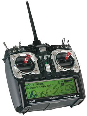 Aurora 9 2.4GHz Transmitter, Optima 9 Receiver