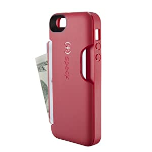 Speck Products SmartFlex Card Case for iPhone 5 & 5S - Retail Packaging - Pomodoro Red