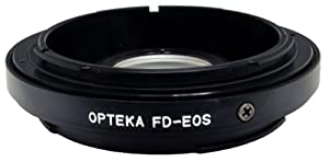 Opteka Canon FD (Manual Focus) Lens to Canon EOS EF (Auto Focus) Body Mount Adapter with Optical Elements