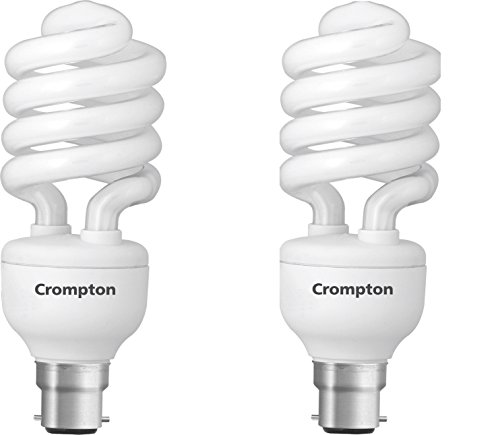 Spiral 25 Watt CFL Bulb (Cool Day Light,Pack of 4)
