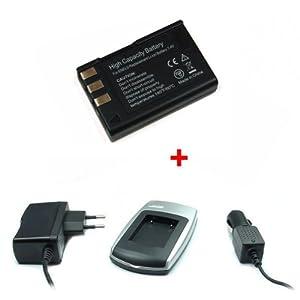 Batería + Cargador EN-EL9 para Nikon D40, D40x, D60, D3000, D5000