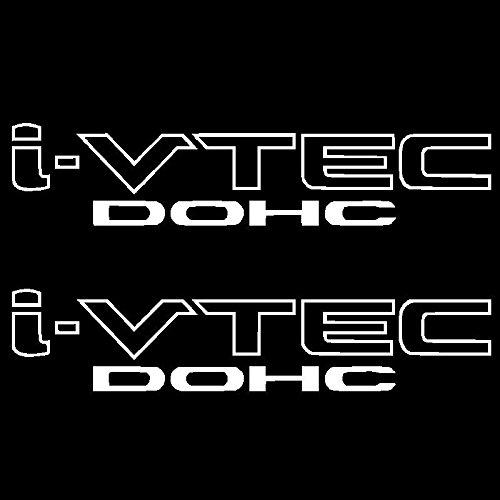 (2) i-VTEC DOHC Vinyl Decal Car Truck Window Sticker Emblem Honda Acura Euro JDM, Die cut vinyl decal for windows, cars, trucks, tool boxes, laptops, MacBook - virtually any hard, smooth surface (Vtec Honda Sticker compare prices)