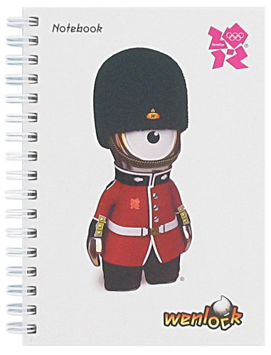 London 2012 Wenlock A5 Notebook - White