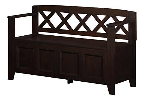 Review U0026 Best Discount Simpli Home Amherst Entryway Storage Bench, Dark  Brown
