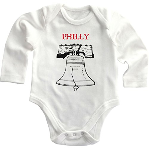 Liberty Bell Philly Philadelphia Baby Infant Long Sleeve Baby Bodysuit One Piece White 12 Months