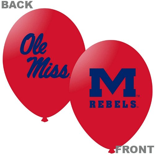 "NCAA Mississippi Rebels Red 10-Pack 11"" Latex Balloons"