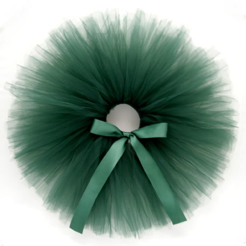 Emerald Gem - Tutu Skirt w RibbonBow for Baby, Girl, Toddler & Woman - Green