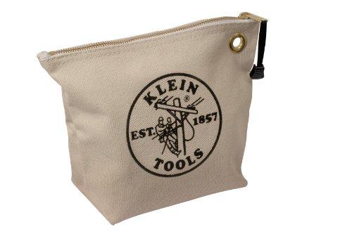 Klein Tools 5539Nat Canvas Zipper Bag For Consumables, Natural
