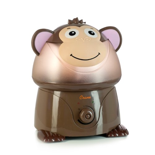 Crane Adorable Ultrasonic Cool Mist Humidifier with 2.1 Gallon Output per Day – Monkey