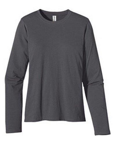 Econscious Ec3500 Ladies Cotton Long Sleeve T Shirt. - Charcoal - L front-942114