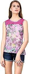 ShilpKala Women's Sleeveless Top (skt3013m, Pink, Medium)
