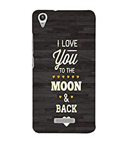 EPICCASE Love you moon Mobile Back Case Cover For Lava Pixel V1 (Designer Case)