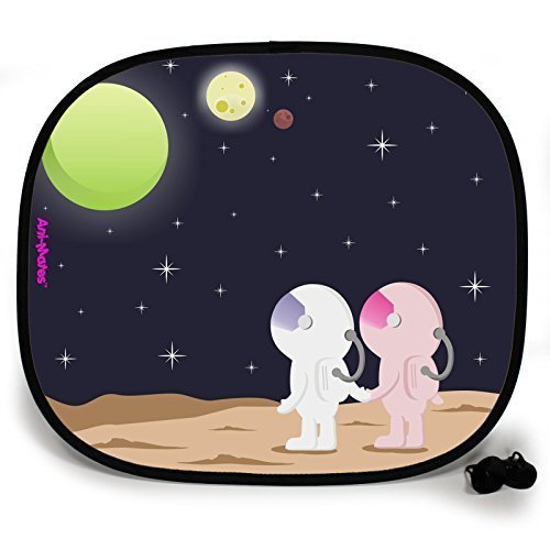 123t OUTTA THIS WORLD STAR GAZING PLAIN Baby/Child Vehicle Sunshade x 1