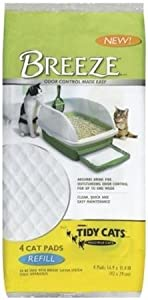 Tidy Cats 4 Count Breeze Litter Pad Refill (Pack of 10)