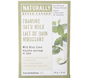Upper Canada Soap And Candle Naturally Foaming Bath Milk Wild Mint Lime, 1.8-Ounce Envelope (Pack of 12)