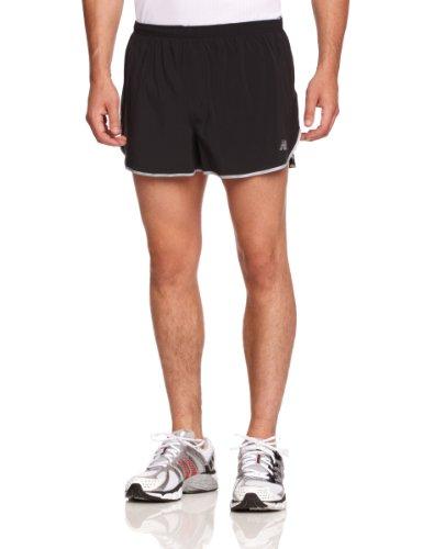 New Balance Men's NBX Boylston Split Short (Black, XL) (New Balance Split Shorts compare prices)