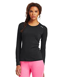 Under Armour Women's HeatGear® Sonic Long Sleeve Extra Small Black