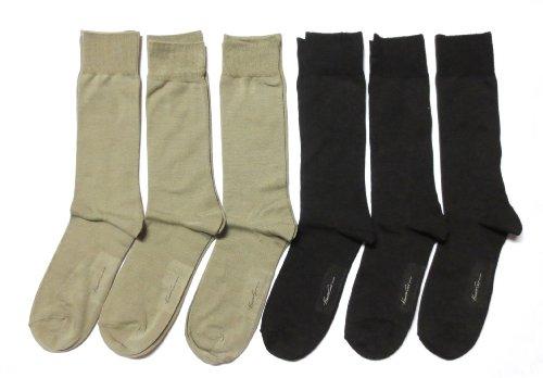 Kenneth Cole Men'S 6-Pack Socks (Brown/Beige)