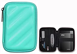BUBM Electronics Accessories Organizer Travel Carrying Case Digital Storage Bag EVA Series for Hard drive(EHD,Green)
