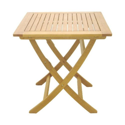 Klapptisch Balkontisch Balkon-Möbel Gartenmöbel Hartholz Tisch 60 x 60 cm Garten