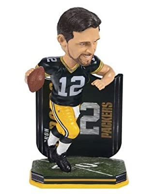 NFL Green Bay Packers Aaron Rodgers Name and Number Jersey Bobblehead Figurine