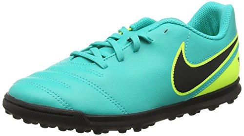 Nike Tiempox Rio Iii Tf, Scarpe da calcio Unisex Bambini, Turchese (Clear Jade/Black/Volt), 38.5 EU