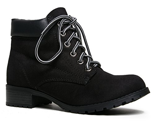Soda EQUITY Lace Up Basic Style Work Ankle Boot Bootie (Soda Equity Boots compare prices)