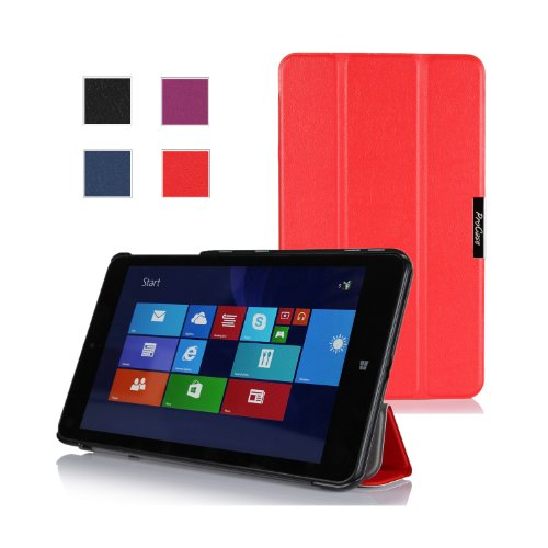 Procase Lenovo Thinkpad 8 Case (Windows 8.1) - Slimsnug Hard Shell Cover Case Only Fit Lenovo Thinkpad 8 Windows Tablet (Red)