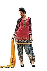 Kamakshi Womens Cotton Self Print Straight Salwar Suit (Vogue_Xxl)