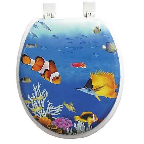 Tropical fish toilet seat tropical fish toilet seat for Fish toilet seat
