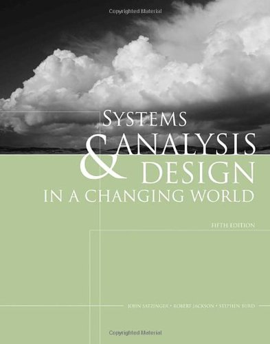 Systems Analysis and Design in a Changing World (with...