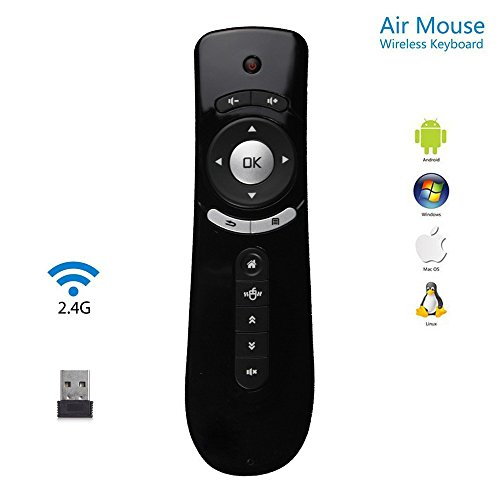 Gyroscope Air mouse, CEStore® New Wireless Gyro Sensing Wireless Keyboard Remote Controller Fly 3D Motion Stick for Windows, Linux, Mac OS, Android OS PC Streaming Media Player