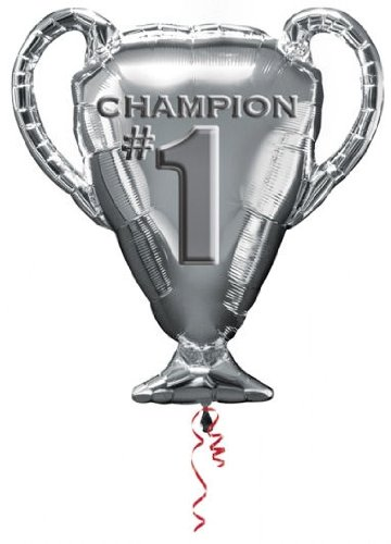 "Anagram International 2734101 Trophy Champion No.1 Shop Balloon Pack, 28"" - 1"