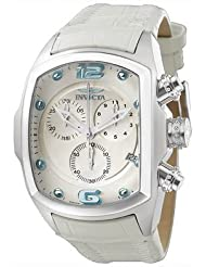 Invicta Men's 6128 Lupah Collection Revolution Chronograph White Leather Watch
