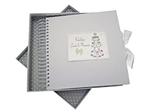 White Cotton Cards Wedding Day Card and Memory Book Cake Design from white cotton cards