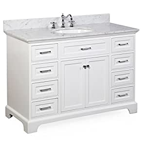 Aria 48 Bathroom Vanity Carrara White